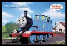 Thomas and Friends Blue Engine art print poster with simple frame