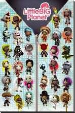 Little Big Planet Compilation art print poster with block mounting