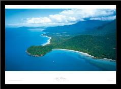 Cape Tribulation - Qld art print poster with simple frame