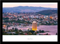 Hobart - Tas art print poster with simple frame