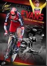 Cadel Evans art print poster with block mounting