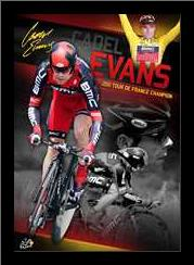 Cadel Evans art print poster with simple frame