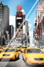 New York Yellow Cabs art print poster with laminate