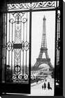 Eiffel Tower art print poster with block mounting