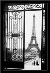 Eiffel Tower art print poster with simple frame