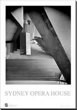 Sydney Opera House 1 art print poster with block mounting