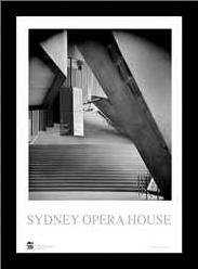 Sydney Opera House 1 art print poster with simple frame