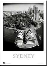 Sydney Opera House 3 art print poster with block mounting