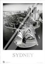 Sydney Opera House 3 art print poster with laminate