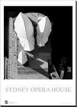 Sydney Opera House 4 art print poster with block mounting