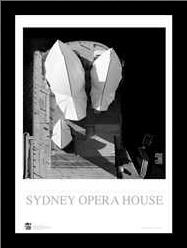 Sydney Opera House 4 art print poster with simple frame