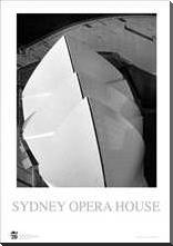 Sydney Opera House 5 art print poster with block mounting
