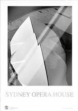 Sydney Opera House 5 art print poster with laminate