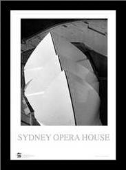 Sydney Opera House 5 art print poster with simple frame
