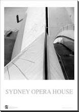 Sydney Opera House 6 art print poster with block mounting