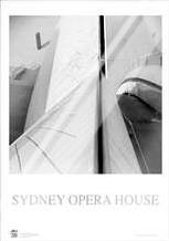Sydney Opera House 6 art print poster with laminate