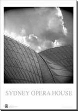 Sydney Opera House 7 art print poster with block mounting