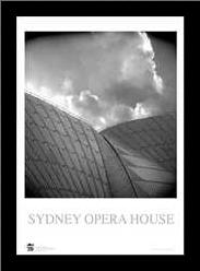 Sydney Opera House 7 art print poster with simple frame