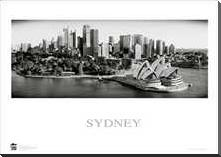 Sydney Opera House 9 art print poster with block mounting
