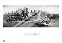 Sydney Opera House 9 art print poster with laminate