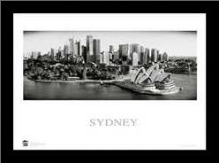 Sydney Opera House 9 art print poster with simple frame