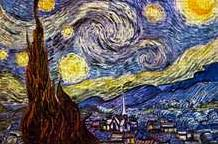 Starry Night art print poster transferred to canvas