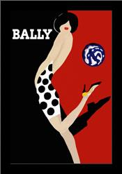 Bally art print poster with simple frame
