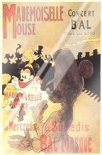 Mademoiselle Mouse art print poster with laminate