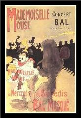 Mademoiselle Mouse art print poster with simple frame