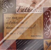 Words to Live By - Father art print poster with laminate