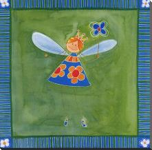 Fairies II art print poster with block mounting