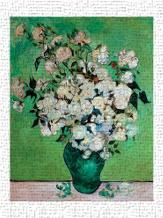 A Vase of Roses, 1890 art print poster transferred to canvas