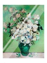 A Vase of Roses, 1890 art print poster with laminate