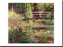 Waterlily Pond: Pink Harmony, 1900 art print poster with block mounting