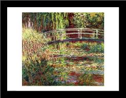 Waterlily Pond: Pink Harmony, 1900 art print poster with simple frame