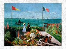 The Terrace at Sainte-Adresse, 1867 art print poster transferred to canvas