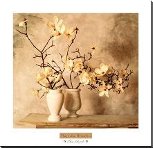 Magnolia Branches art print poster with block mounting