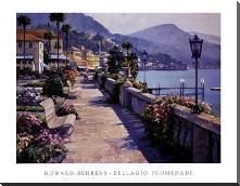 Bellagio Promenade art print poster with block mounting
