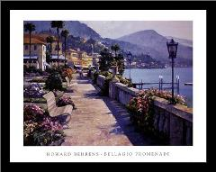 Bellagio Promenade art print poster with simple frame