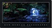 Liffey Falls art print poster with block mounting