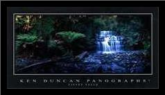 Liffey Falls art print poster with simple frame