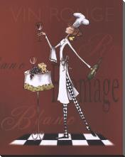 Sassy Chef II art print poster with block mounting