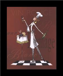 Sassy Chef II art print poster with simple frame