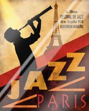 1970 Jazz in Paris art print poster with laminate