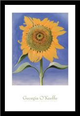 Sunflower, New Mexico, 1935 art print poster with simple frame