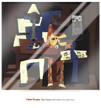 Three Musicians art print poster with laminate