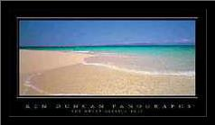 The Great Barrier Reef art print poster with simple frame