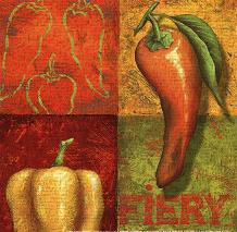 Chili I art print poster transferred to canvas