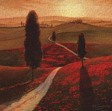 Tuscany art print poster transferred to canvas