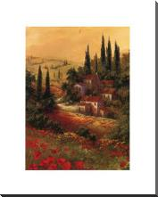 Toscano Valley II art print poster with block mounting